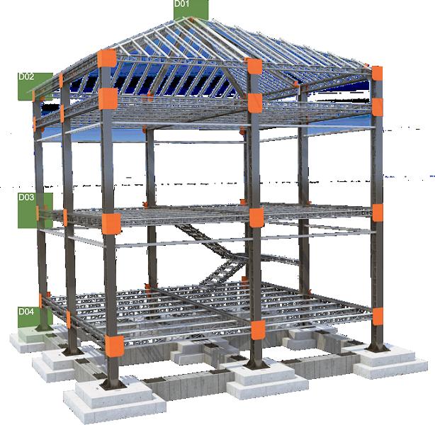 Futhura struttura in ferro per tetti | tralicci in ferro per ...
